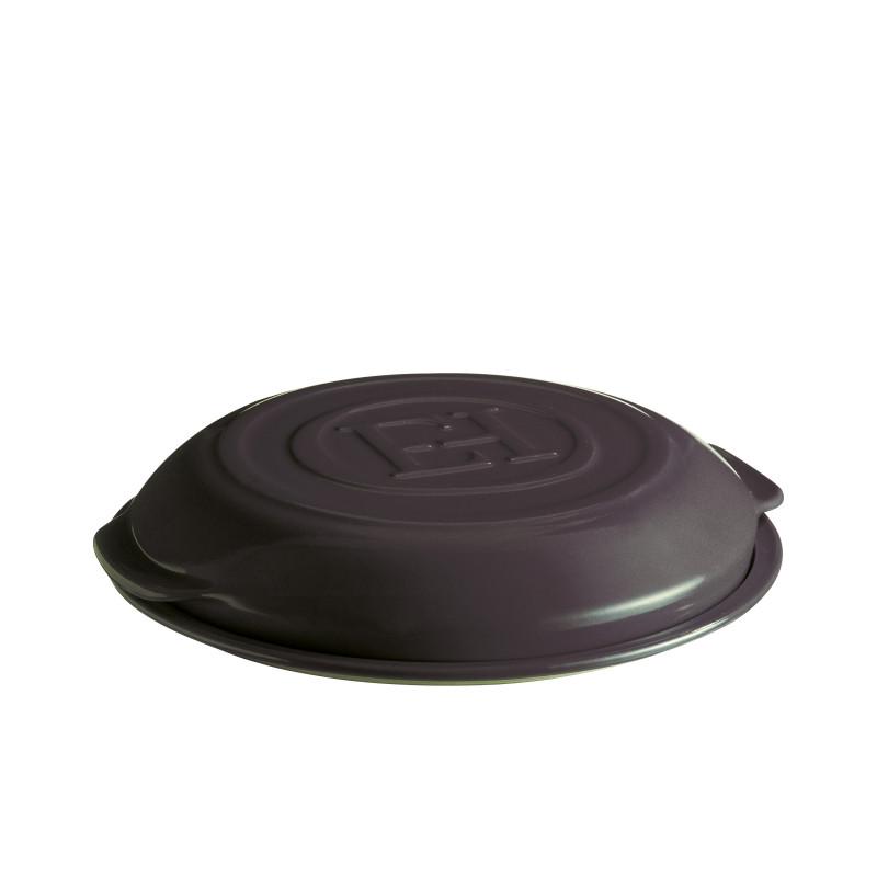 Set tarte tatin ceramica Emile Henry base e coperchio - nero 1