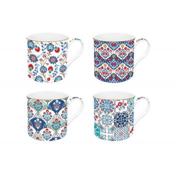 Set 4 mug gift box Iznik,...