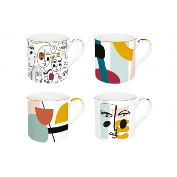 Set 4 mug gift box...