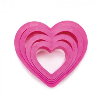 Set 4 tagliapasta cuore -...