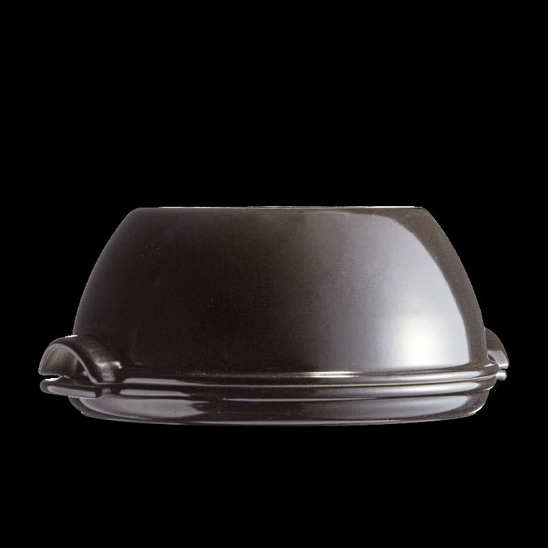 Cuoci pane in ceramica rotondo Emile Henry - 32 cm diametro - nero