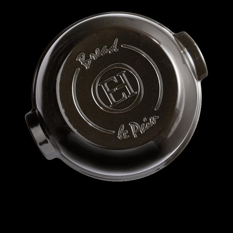 Cuoci pane in ceramica rotondo Emile Henry - 32 cm diametro - nero - alto