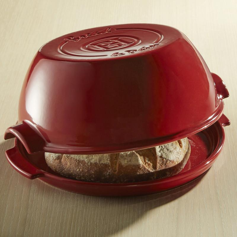 Cuoci pane in ceramica rotondo Emile Henry - 32 cm diametro - rosso