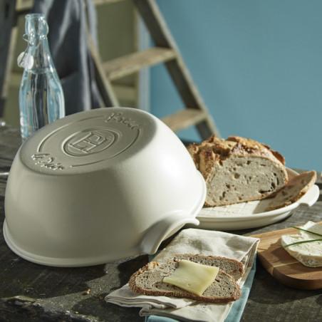 Cuoci pane in ceramica rotondo Emile Henry - 32 cm diametro - bianco