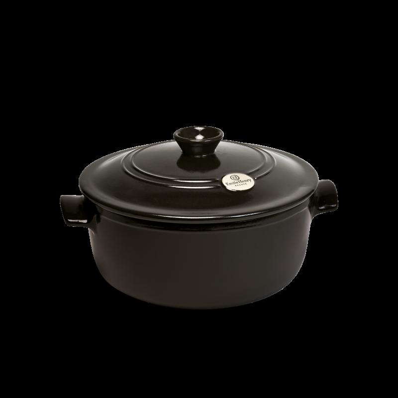 Cocotte in ceramica Emile Henry - rotonda - 32 cm diametro - nero