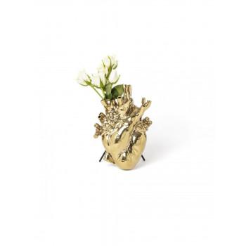 Vaso Love in Bloom Gold in...