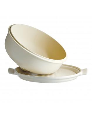 Cuoci pane in ceramica Emile Henry rotondo - 34 cm diametro - nero 1