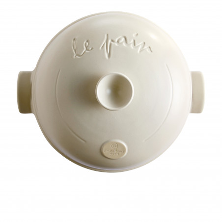 Cuoci pane in ceramica Emile Henry rotondo - 34 cm diametro - bianco 3